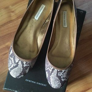 Cynthia Vincent Python Ballerina Flats